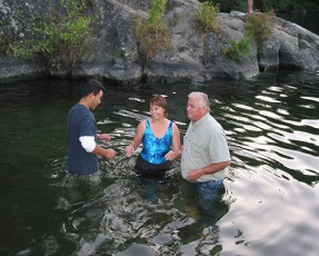 Baptism at Thetis Lake